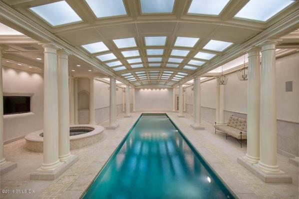 110 clapboard indoor pool